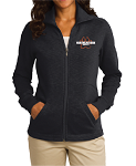 Port Authority Ladies Slub Fleece Full-Zip Jacket - Alternate